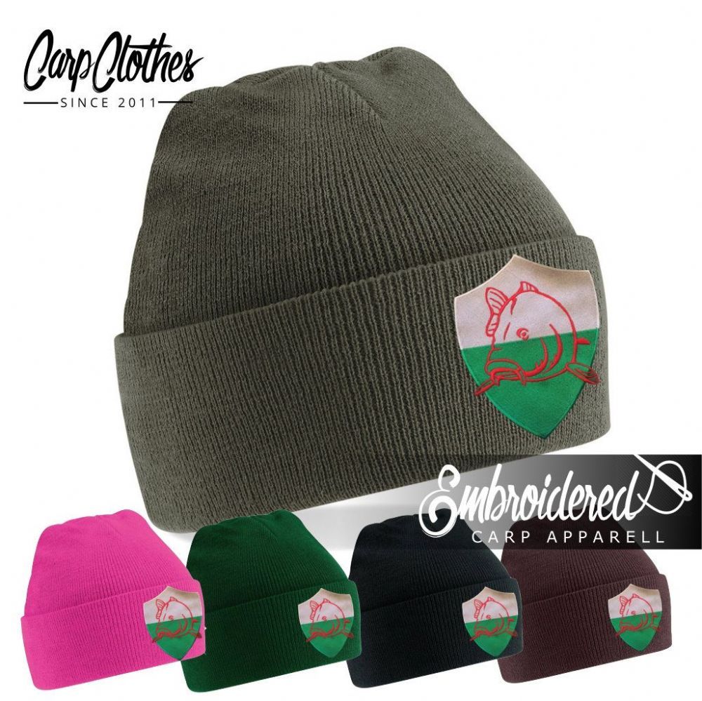 022 EMBROIDERED CARP BEANIE